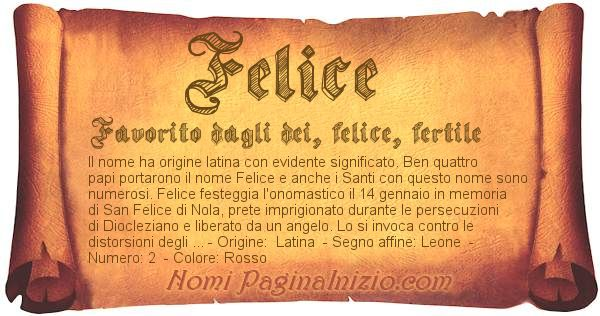 Nome Felice