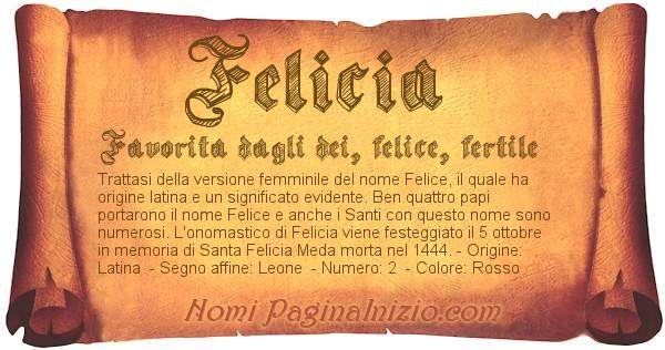 Nome Felicia