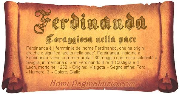 Nome Ferdinanda