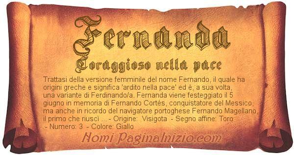 Nome Fernanda