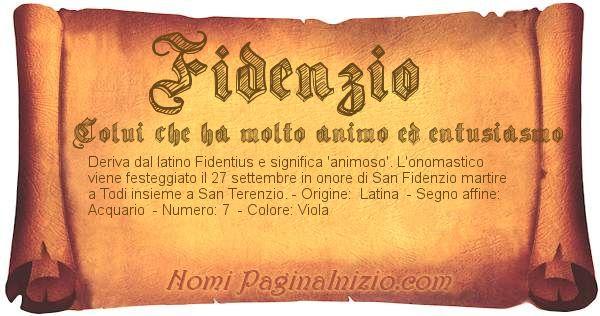 Nome Fidenzio