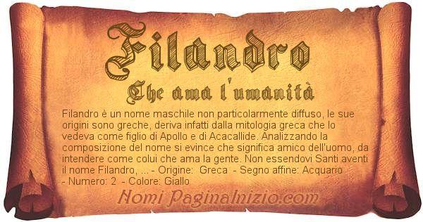 Nome Filandro