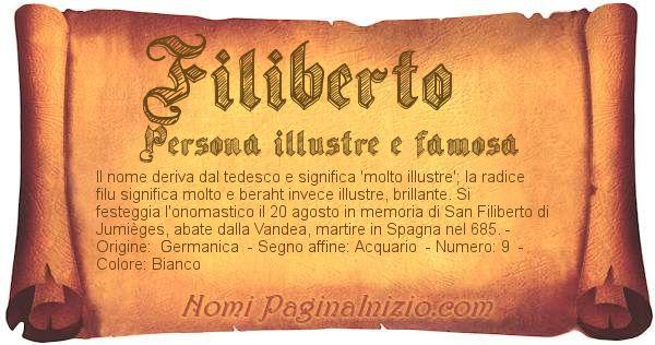 Nome Filiberto