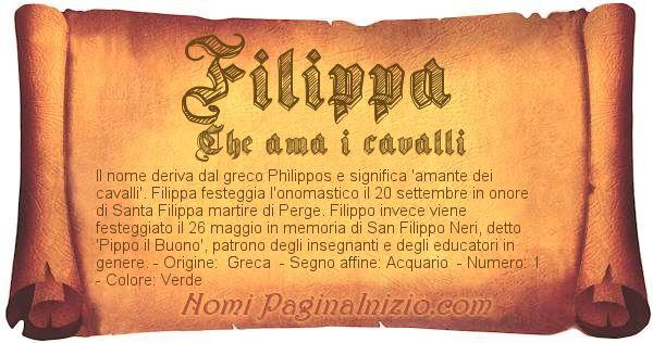Nome Filippa