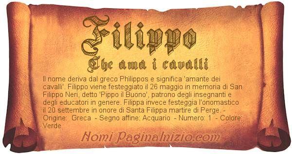 Nome Filippo
