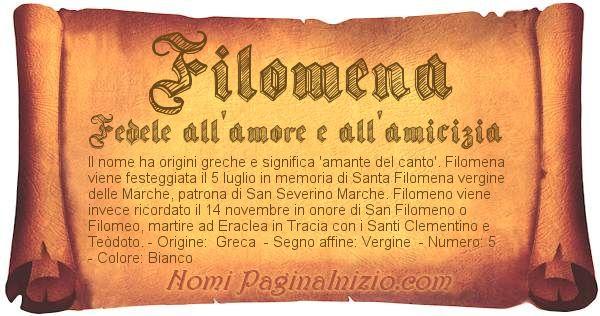 Nome Filomena