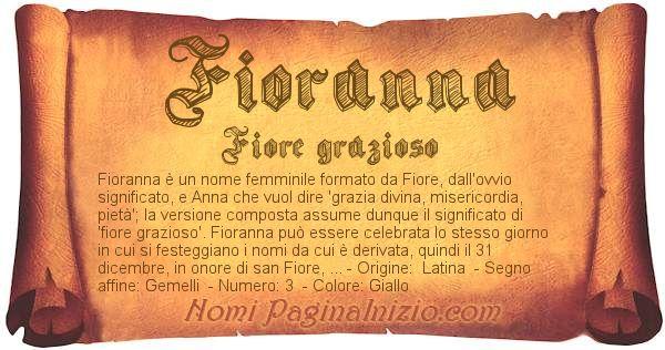 Nome Fioranna