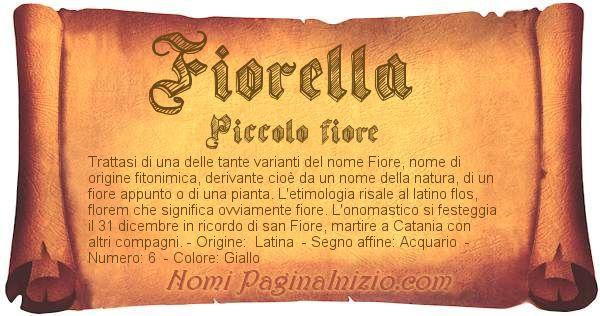 Nome Fiorella