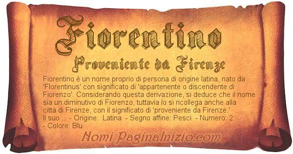 Nome Fiorentino