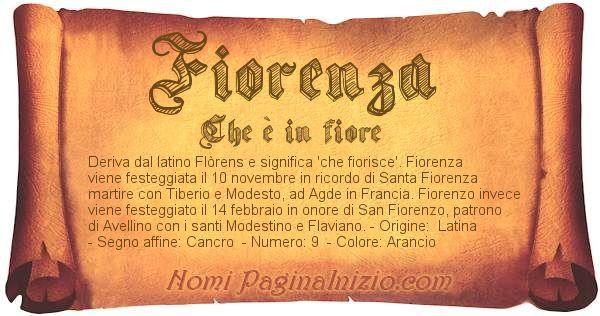 Nome Fiorenza
