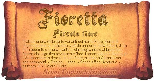 Nome Fioretta
