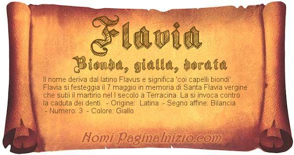 Nome Flavia