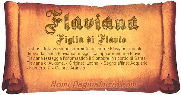 Nome Flaviana