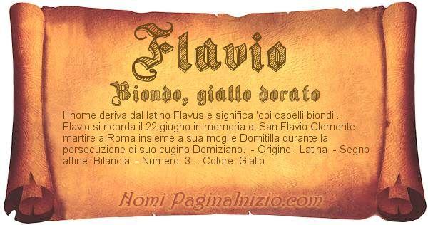 Nome Flavio
