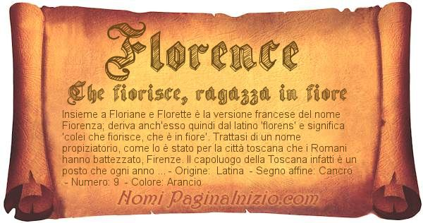 Nome Florence
