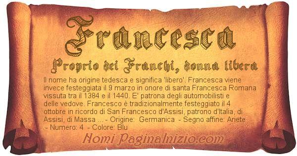 Nome Francesca