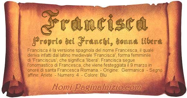 Nome Francisca