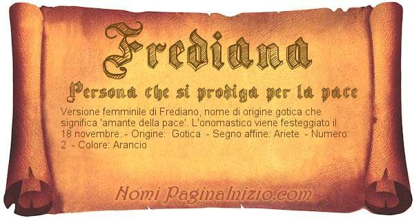 Nome Frediana