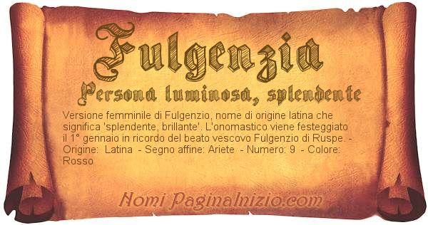 Nome Fulgenzia