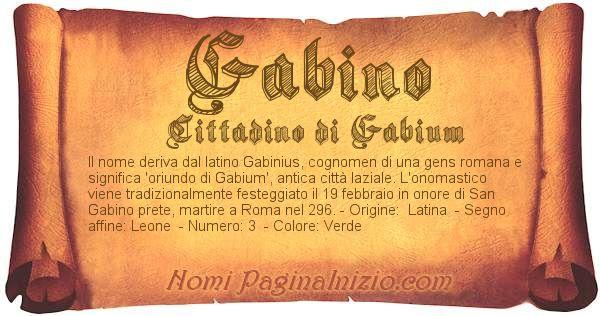 Nome Gabino