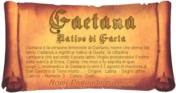 Nome Gaetana