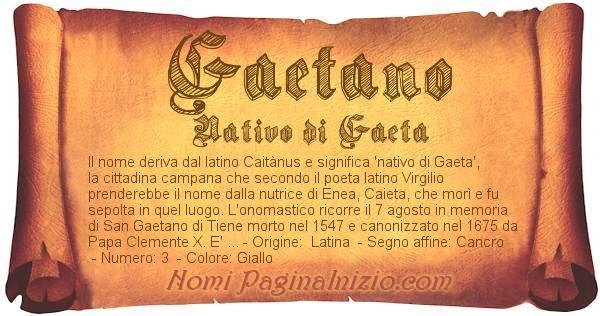 Nome Gaetano