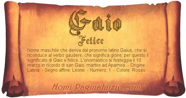 Nome Gaio
