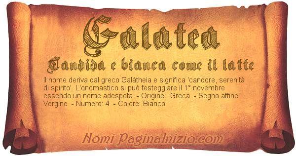 Nome Galatea