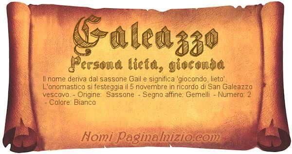Nome Galeazzo