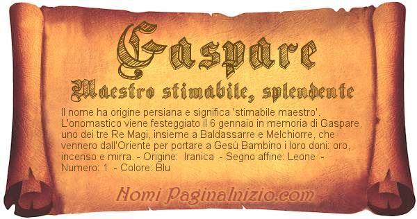 Nome Gaspare