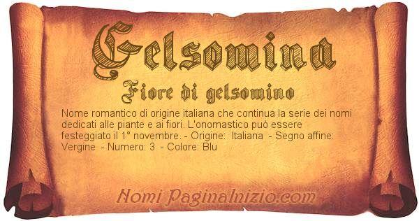 Nome Gelsomina