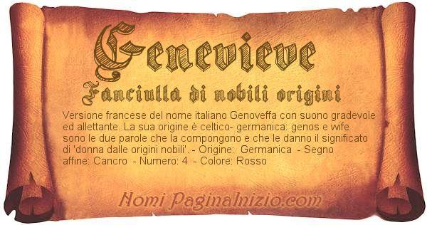 Nome Genevieve