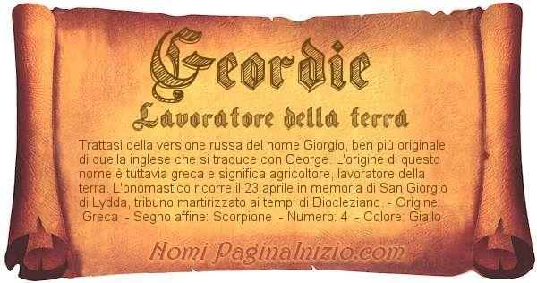 Nome Geordie