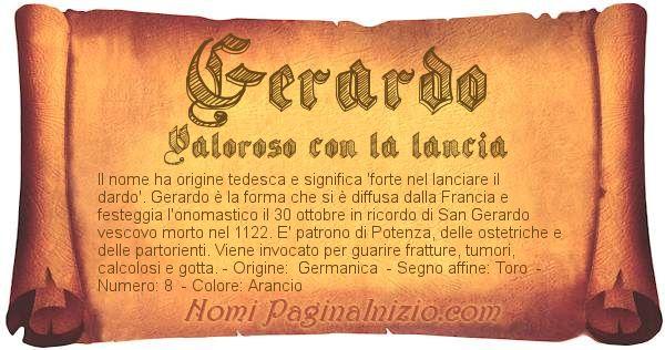 Nome Gerardo