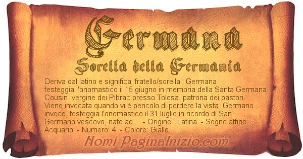 Nome Germana