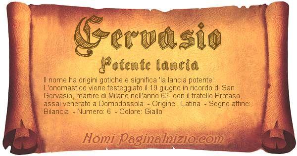 Nome Gervasio