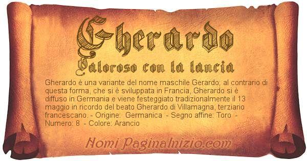 Nome Gherardo