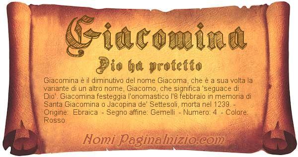 Nome Giacomina