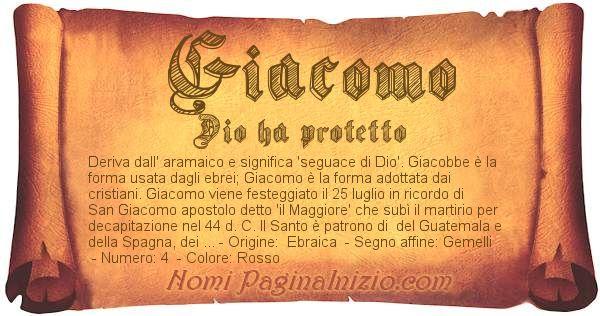 Nome Giacomo