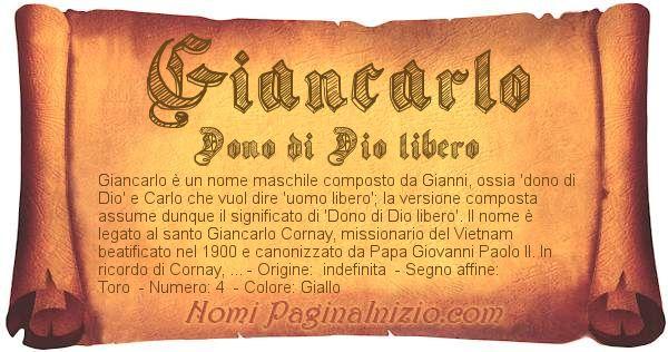 Nome Giancarlo