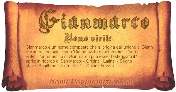 Nome Gianmarco