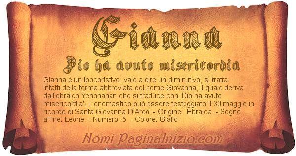 Nome Gianna