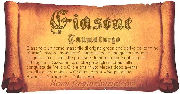 Nome Giasone