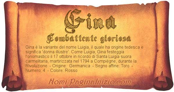 Nome Gina