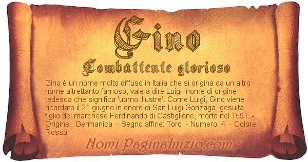 Nome Gino