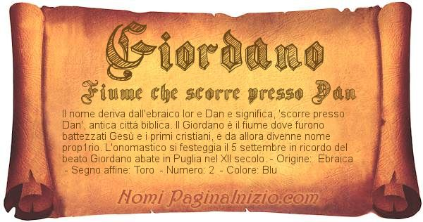 Nome Giordano