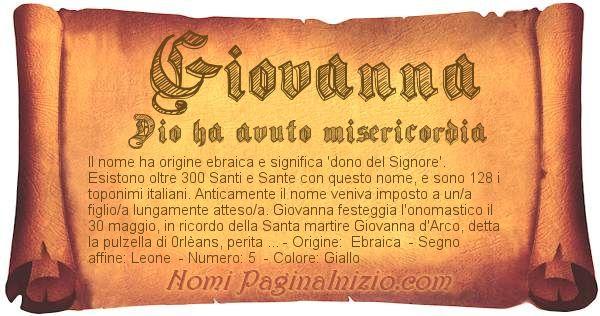 Nome Giovanna