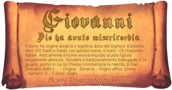 Nome Giovanni