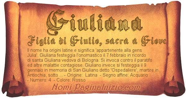 Nome Giuliana