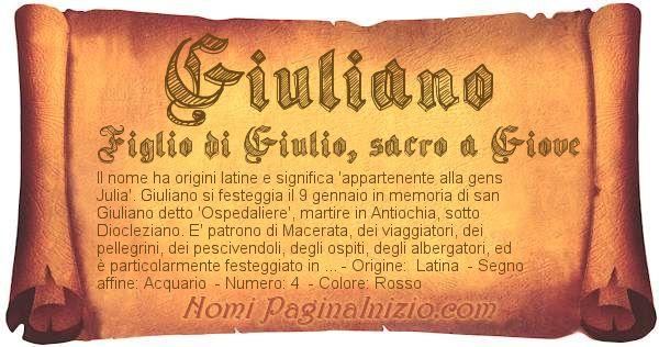 Nome Giuliano
